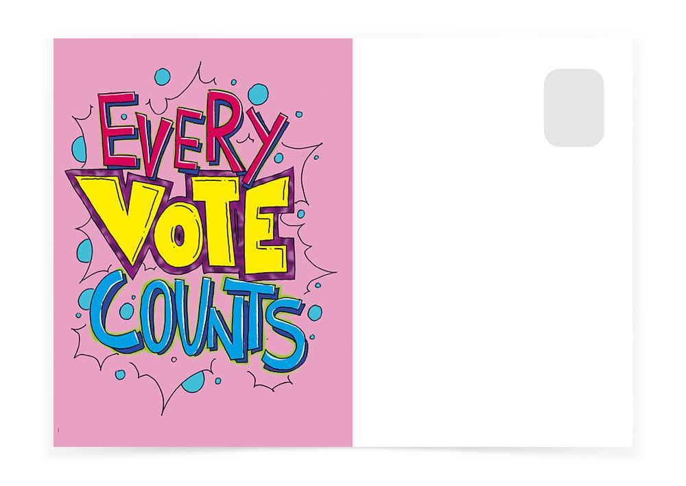 Every Vote Counts - Pink