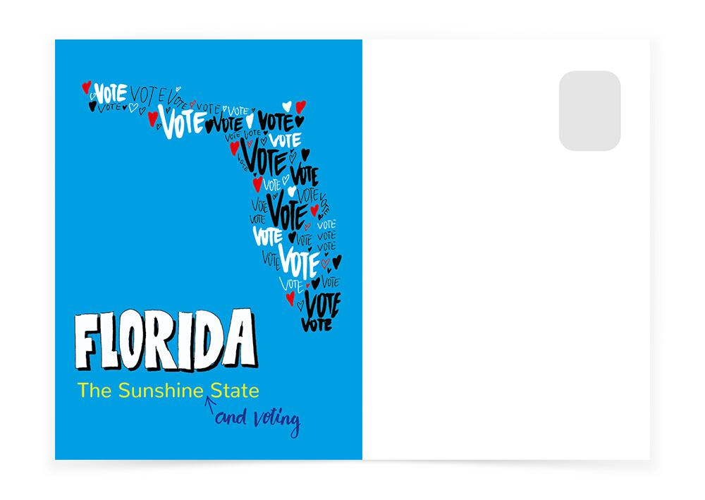 Florida - The Voting State - Postcards to Voters