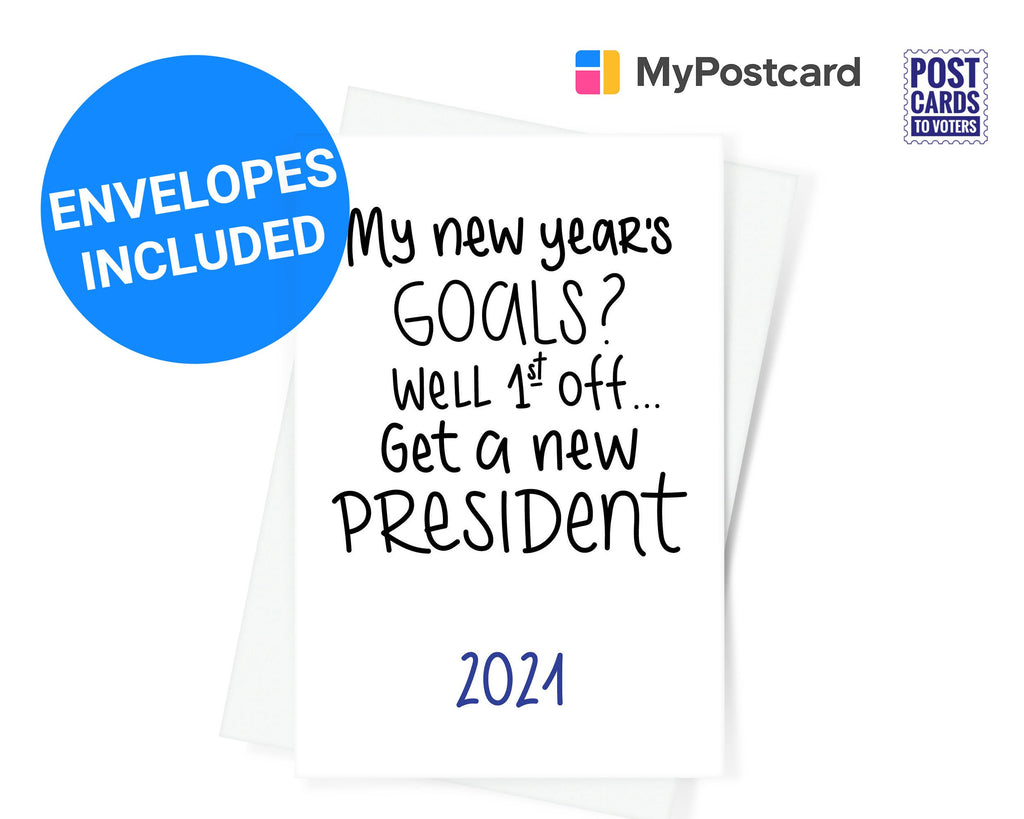 New Years Goals - New Year Greeting Cards