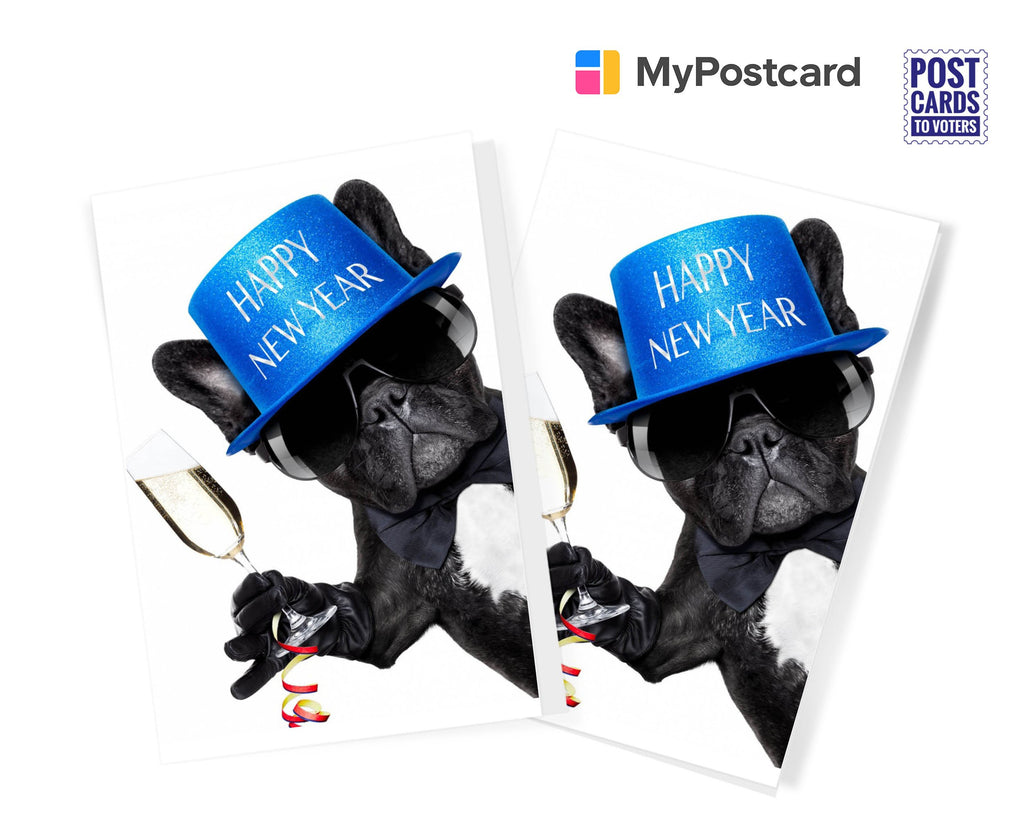 Party Pug - New Year Greeting Cards