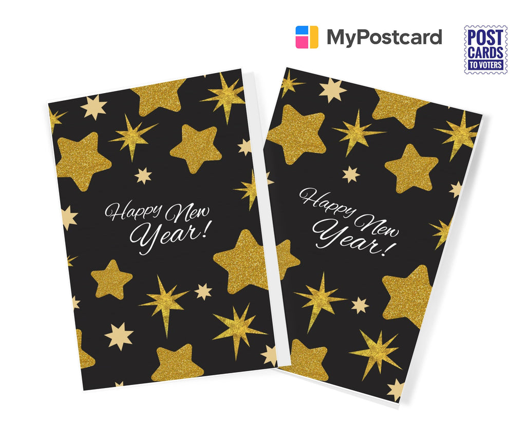 Golden Stars - New Year Greeting Cards