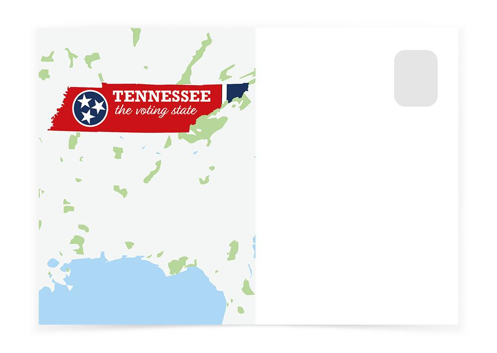 Tennessee - The Map - Postcards to Voters