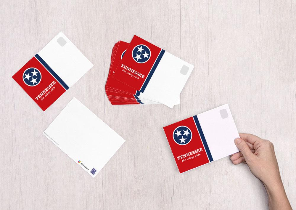 Tennessee - The Voting State - Postcards to Voters