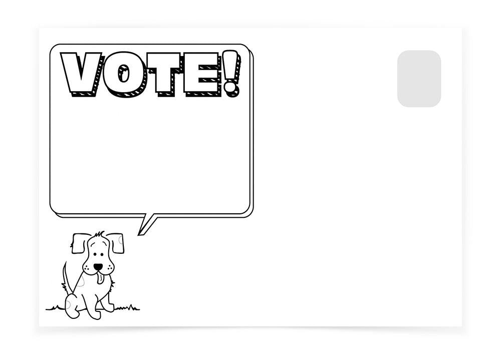 VOTE! DOG - Postcards to Voters