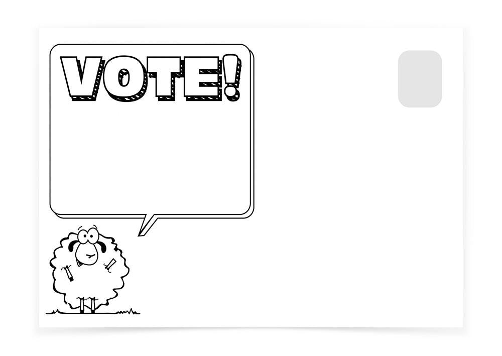 VOTE! SHEEP - Postcards to Voters