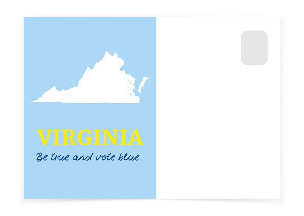 Virginia - Be True and Vote Blue - Postcards to Voters