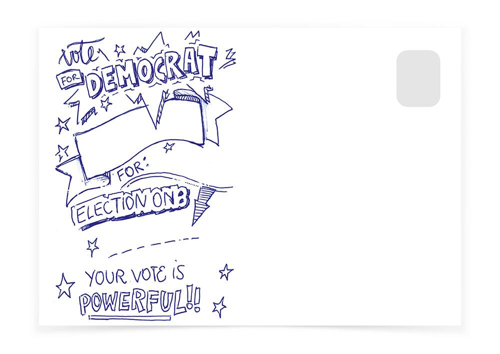 Vote - Democrat - Postcards to Voters