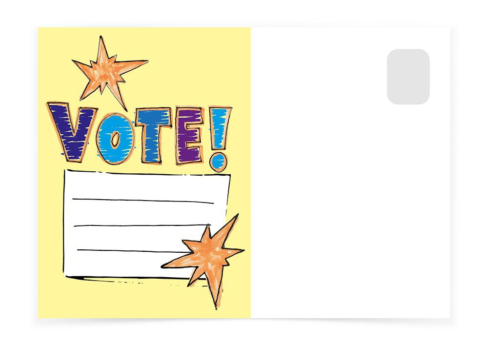Vote - Note - Postcards to Voters
