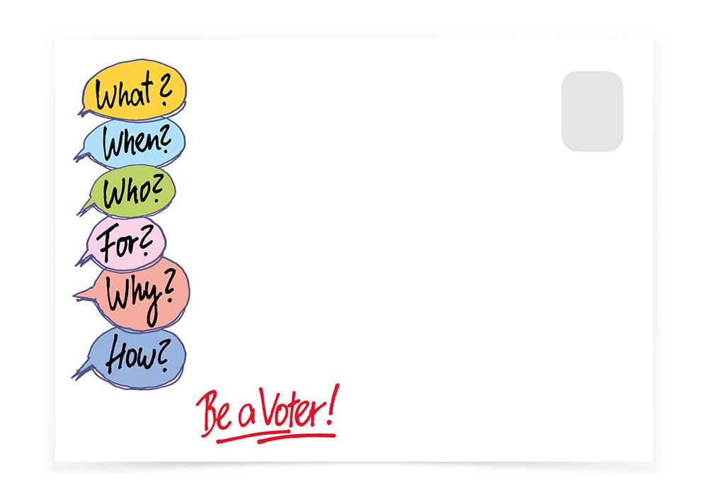 Vote Questionnaire Bubbles - Postcards to Voters