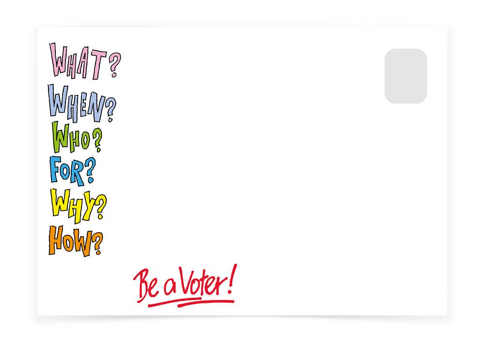 Vote Questionnaire Colorful - Postcards to Voters