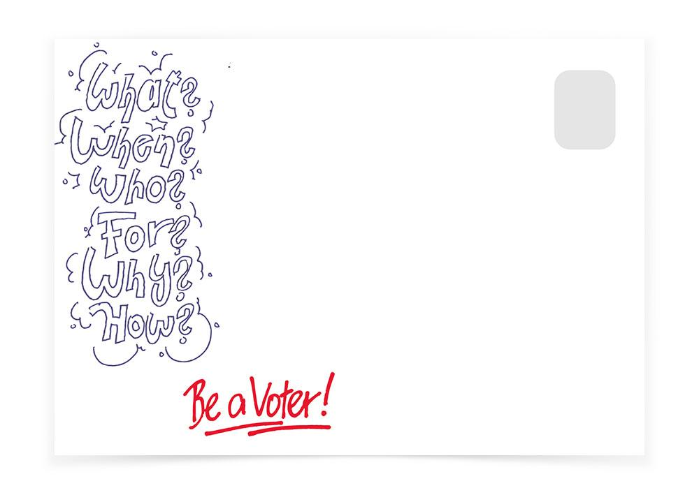 Vote Questionnaire Sketch - Postcards to Voters