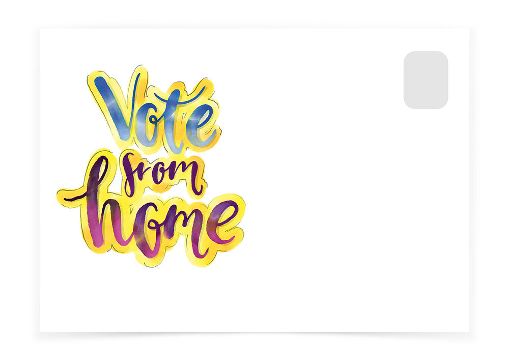 Vote from Home - Watercolor