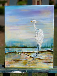 """Florida Egret - Lookout""                      11 x 14"