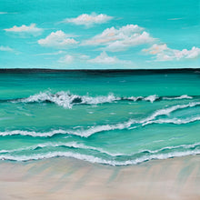 "Load image into Gallery viewer, ""Emerald Coast"" - 20 x 20"