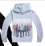 Inspired by Fortnite Print Long Sleeve Pullover And Top with  Pants Set for Kids