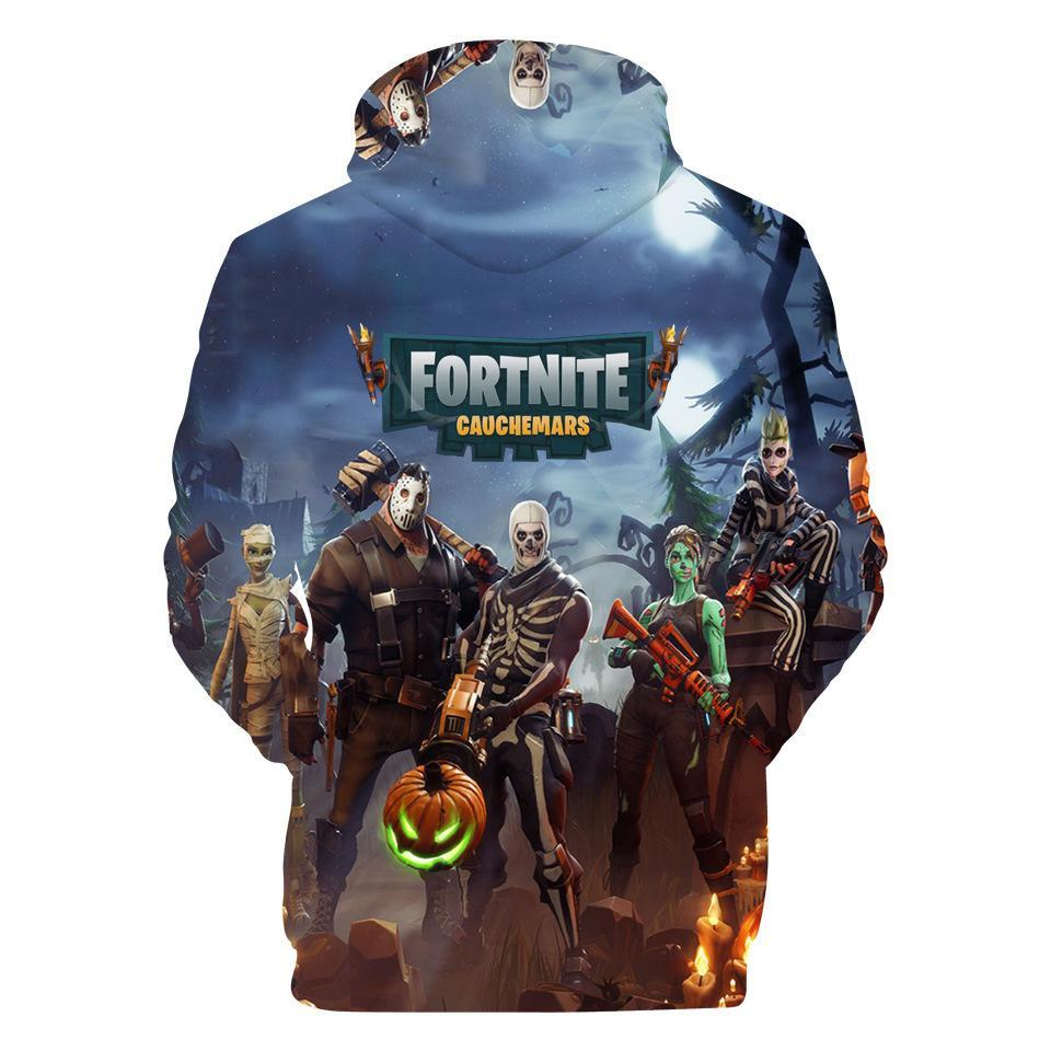 Inspired by Fortnite Hoodie Zombie Painted Sweatshirt