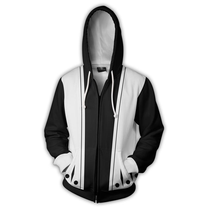 Kenpachi Zaraki 11th Division Zip Up Hoodies