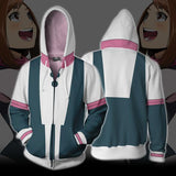 My Hero Academia Hoodies - Ochaco Uraraka Boku No Hero Academia Zip Up Hoodie