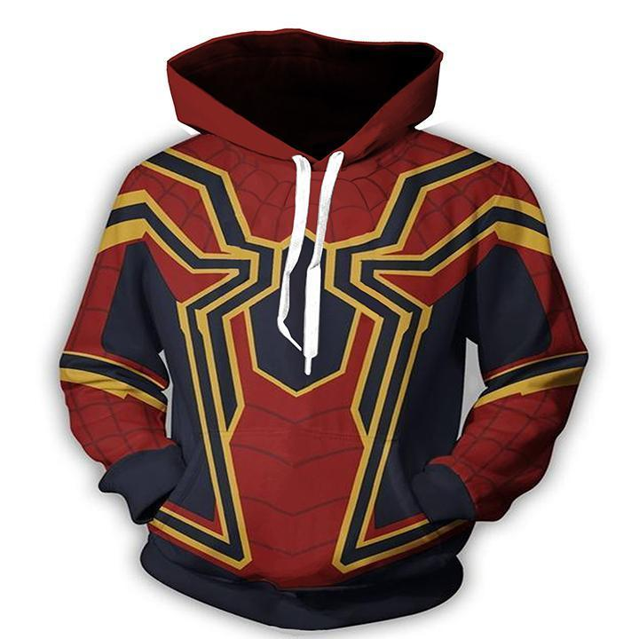 Spiderman Hoodies - Homecoming Iron Spider Man Pull over  Hoodie
