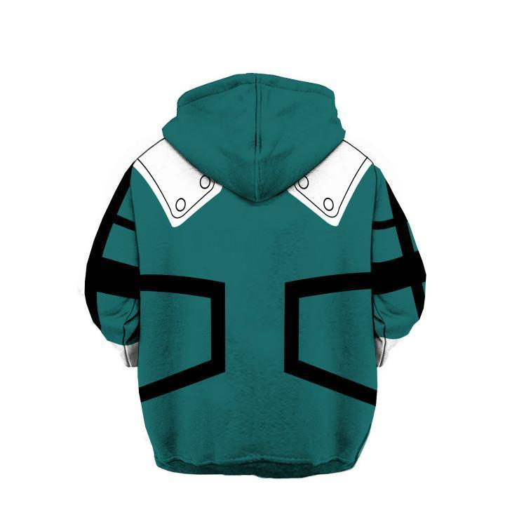 My Hero Academia Hoodies - Izuku Midoriya Boku No Hero Academia Deku Zip Up Hoodie