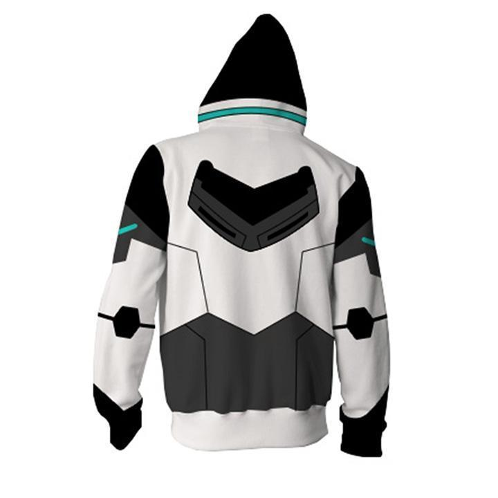 Voltron: Legendary Defender Hoodies - Paladin Shiro Zip Up Hoodie