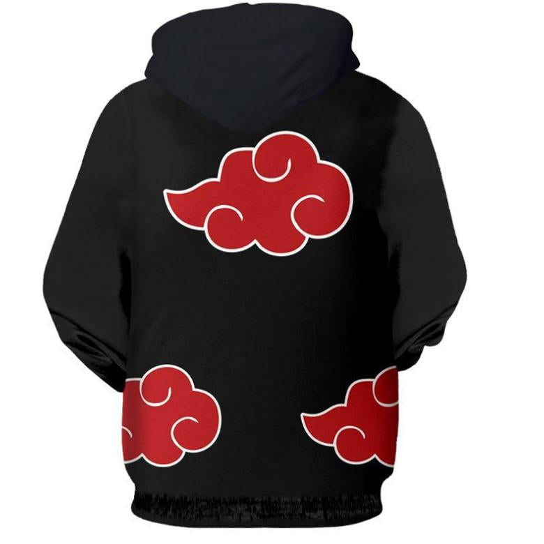 Inspired by Naruto Hoodies - Unisex Black Akatsuki Zip Up Hoodie
