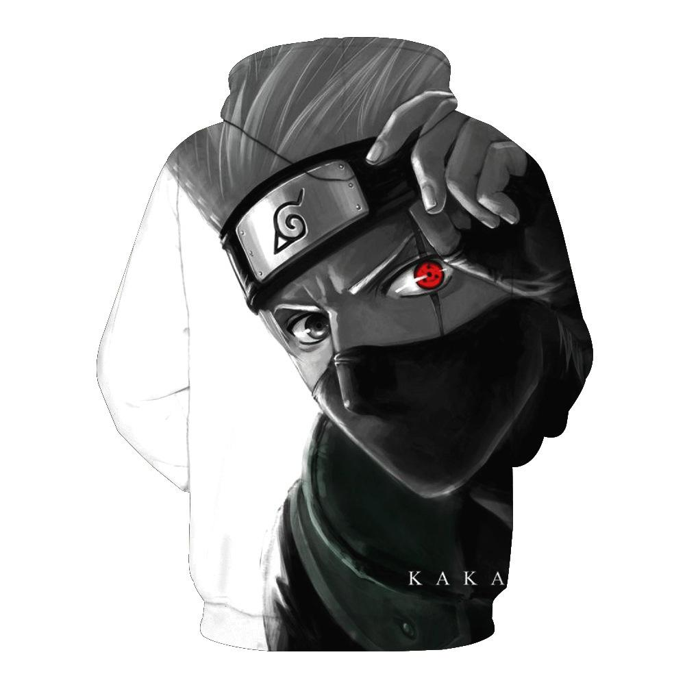 Inspired by Naruto Hoodies - Kakashi Unisex 3D Pullover Hoodie