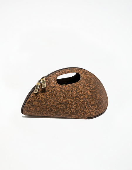 CORK SHELL Dark Brown Bag