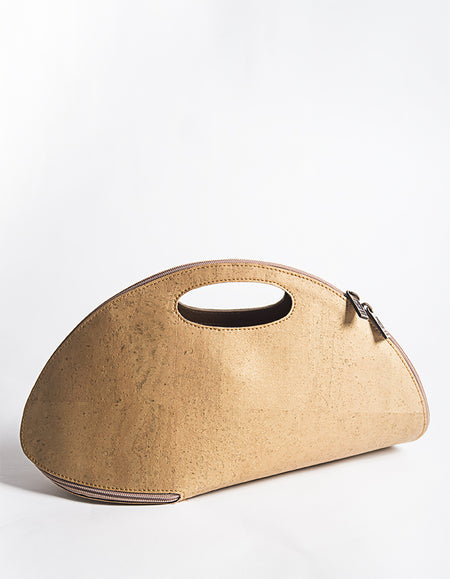 CORK SHELL Gold Bag