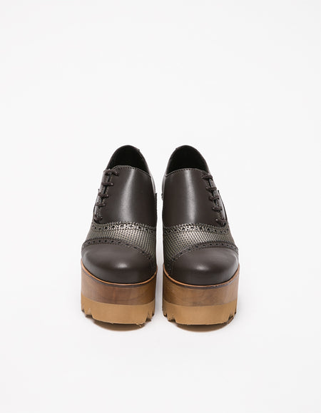 Dali Derby Brown & Gold Shoes