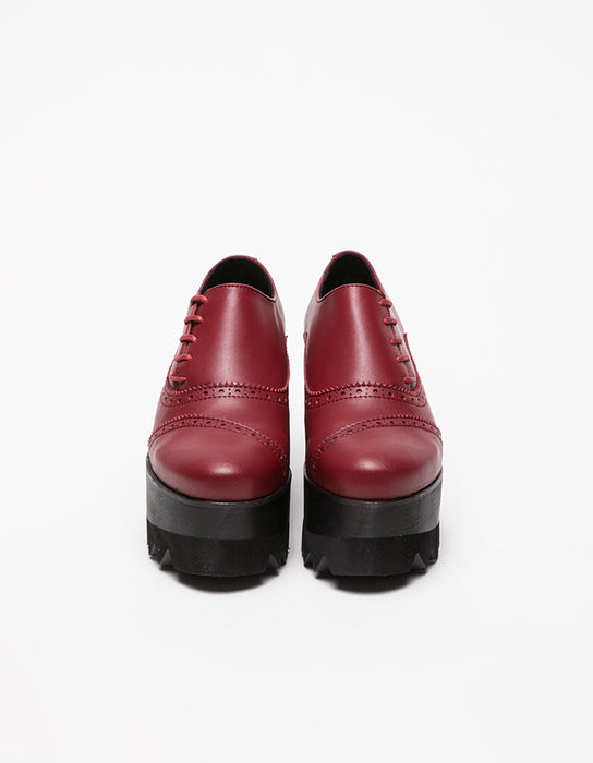 Dali Derby Red & Black Shoes