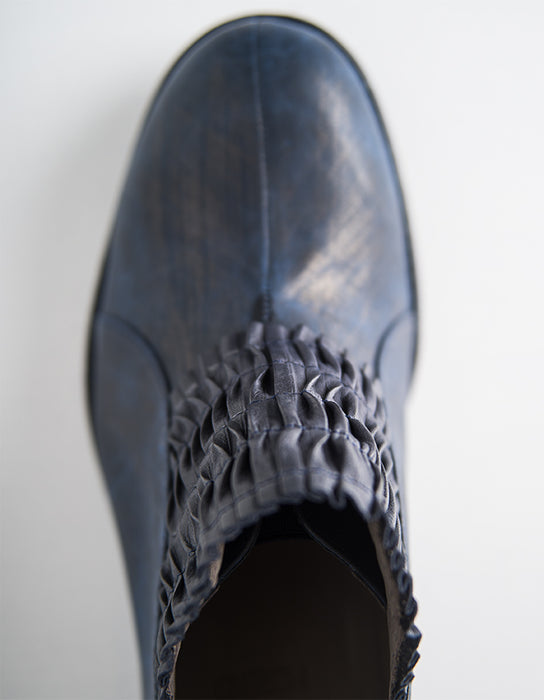 Shadows Flat Blue Woman Shoes