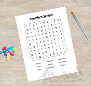 Meeting Word Search for Kids - Spanish