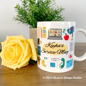 Zoom Service Mug with Name