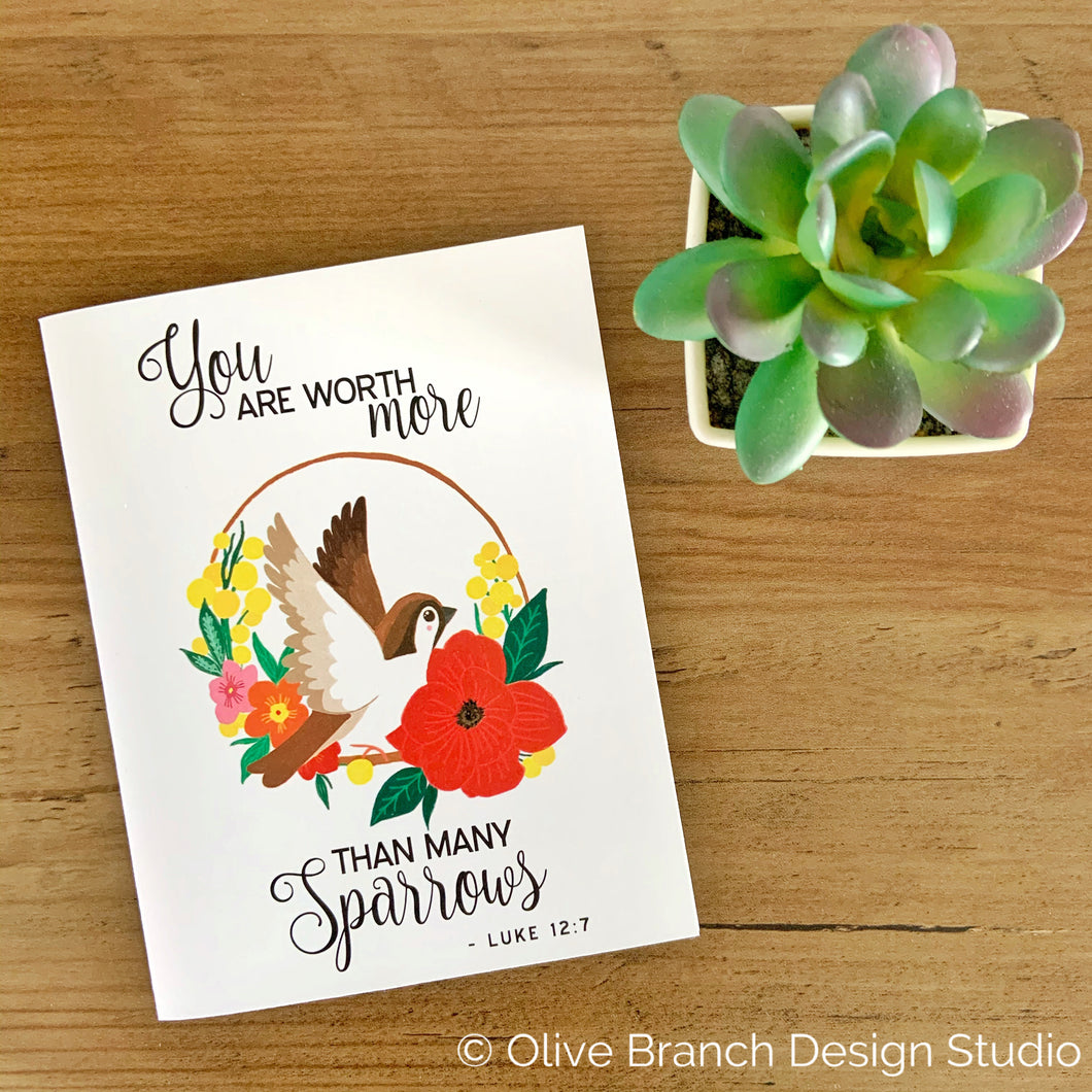 You are worth more than many sparrow JW Greeting Card