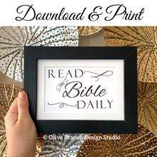 Load image into Gallery viewer, Read the Bible Daily Print