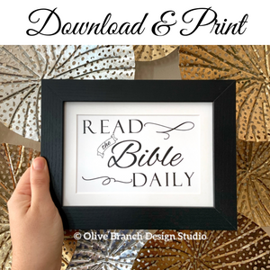 Read the Bible Daily Print