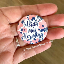 Load image into Gallery viewer, Pink & Navy Best Life Ever Pins