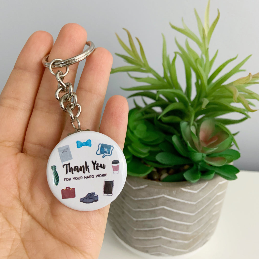 Thank You for Your Hard Work Keychains - Gracias Por Su Duro Trabajo Llavero