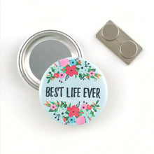 Load image into Gallery viewer, Best Life Ever Floral Magnetic Pin - Olive Branch JW Gift Shop