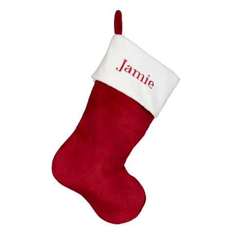 Red Velvet Christmas Stocking