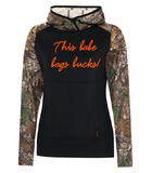 Realtree Tech Fleece Two Tone Hooded Ladies Sweatshirt
