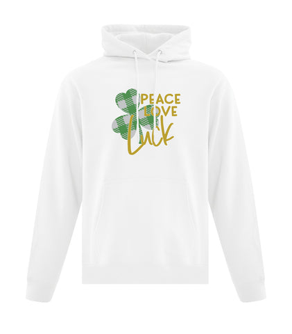 Peace, Love, Luck Hooded Sweatshirt