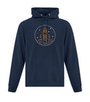 Vintage Space (Circle Design) Hooded Sweatshirt