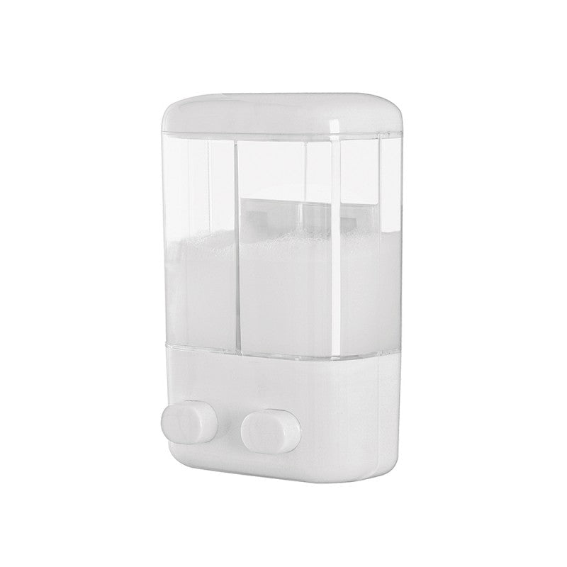 dispenser doppio da muro in plastica 1000 ml - doomostore