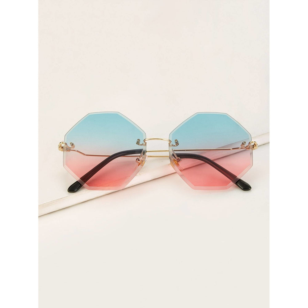 Ombre Lens Rimless Sunglasses