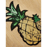 Pineapple Pattern Sequin Tote Bag