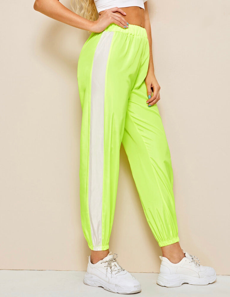 Neon lime jogger