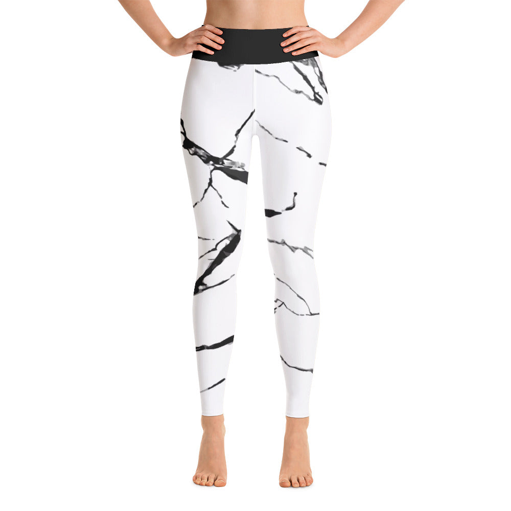 Yoga Leggings Black and white Design