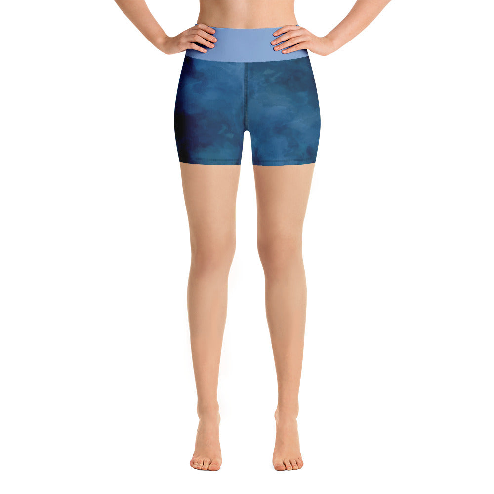 "Yoga Shorts ""Dark Blue Design"""